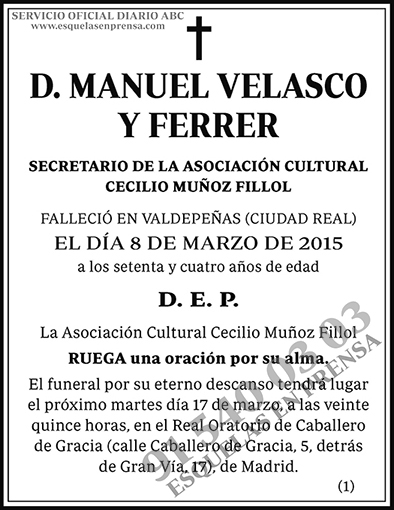 Manuel Velasco y Ferrer